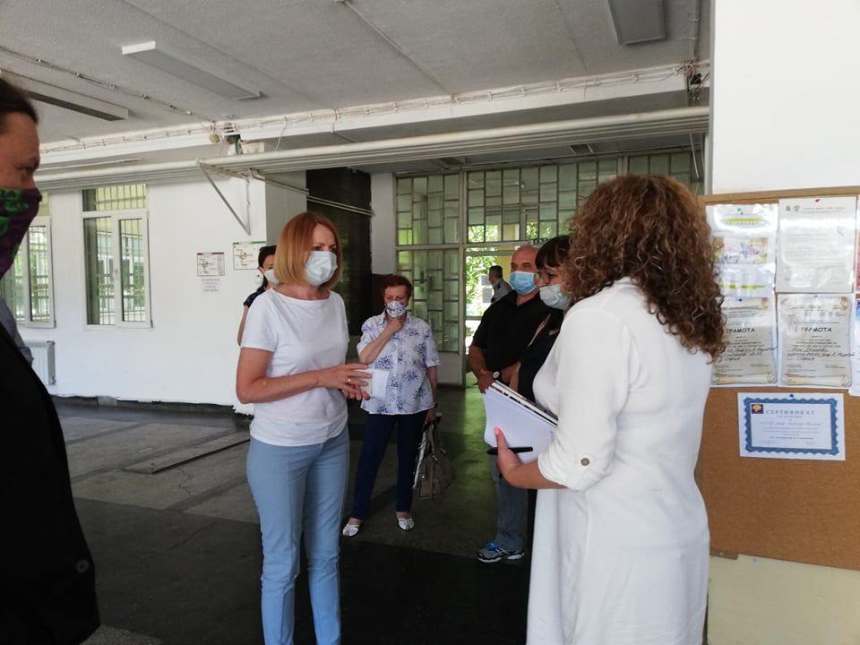 Кметът Йорданка Фандъкова на посещение в  148 ОУ  - голяма снимка